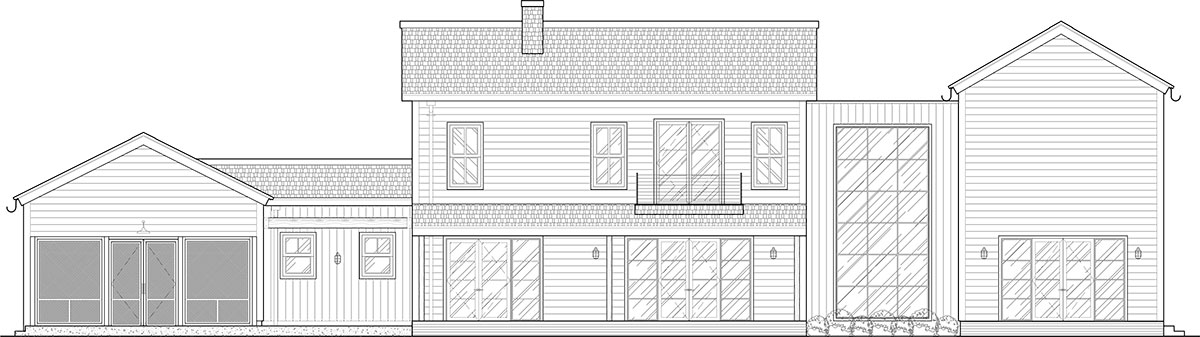 farmhouse 1 rear elevation
